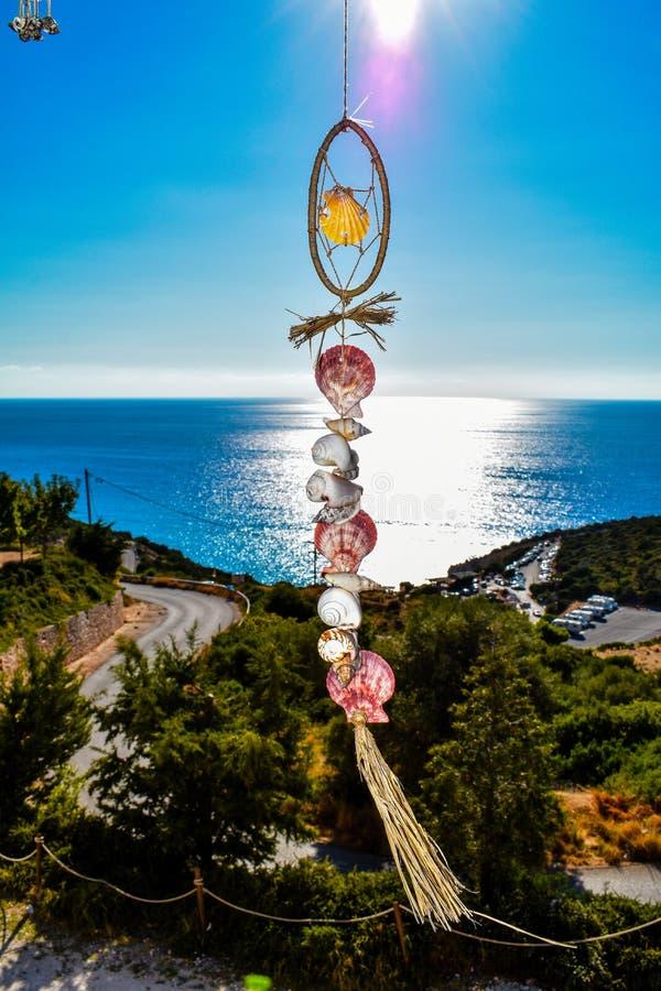 Vue de la mer ionienne sur l'île de Leucade en Grèce photographie stock libre de droits