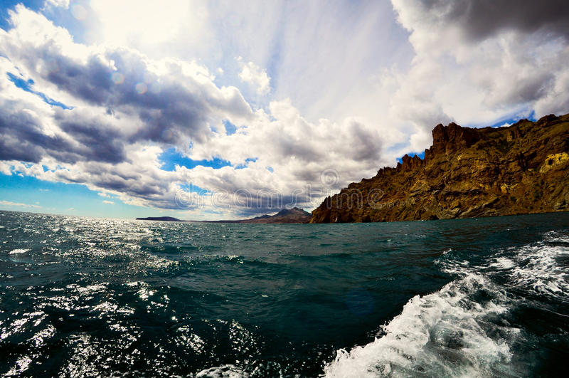 Vue de la Mer Noire d'un bateau photo libre de droits