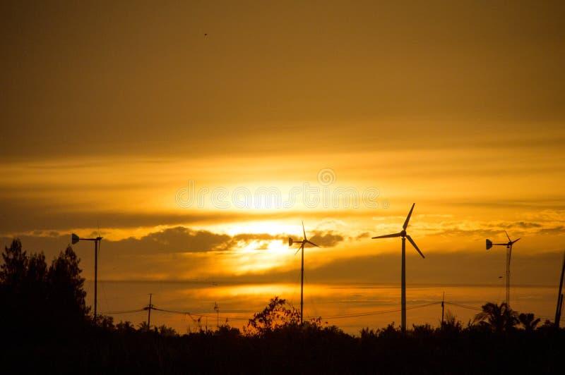 Vue de la nature au coucher du soleil photos libres de droits