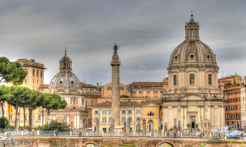 Vue de la partie historique de Rome photographie stock
