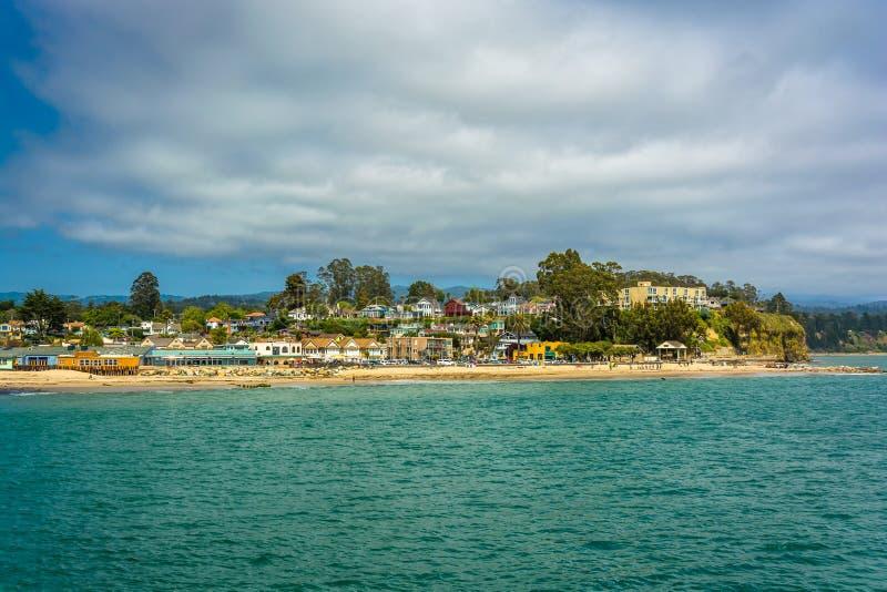 Vue de la plage dans Capitola photo libre de droits