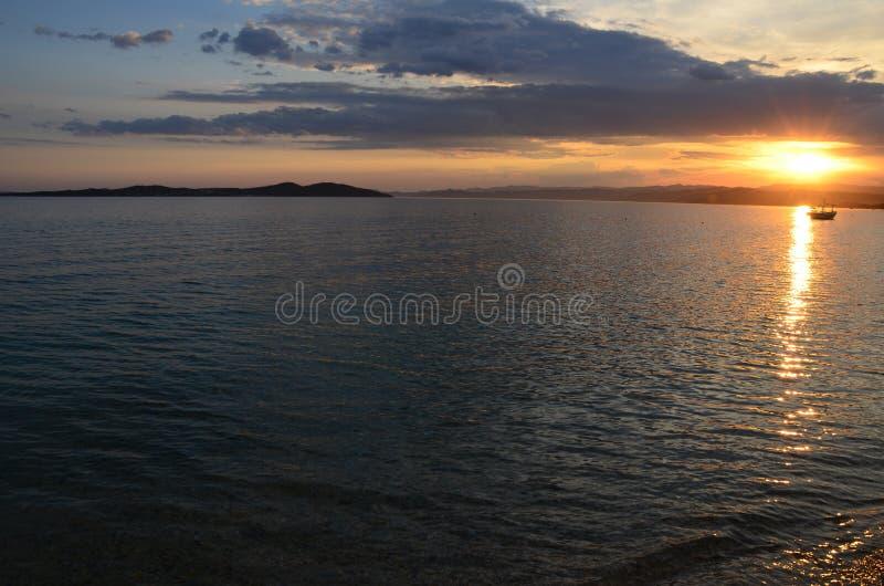 Vue de la plage en Gr?ce photos libres de droits