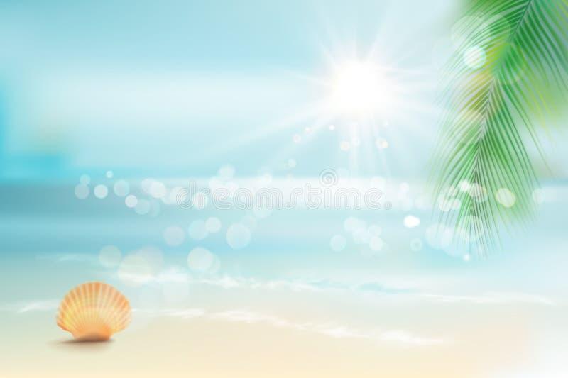Vue de la plage Illustration de vecteur illustration de vecteur