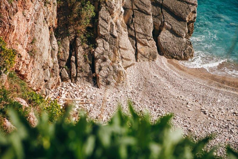 Vue de la plage ou du rivage sauvage image libre de droits