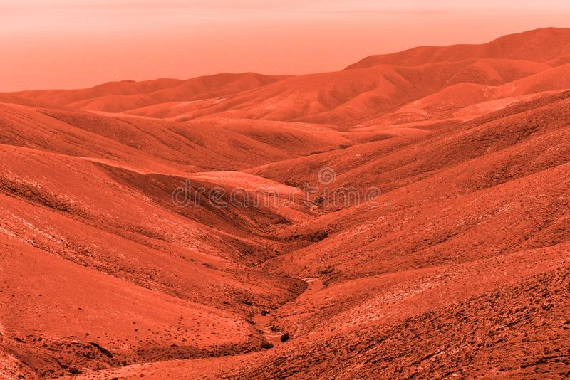 Vue de la plan?te terrestre rouge image libre de droits