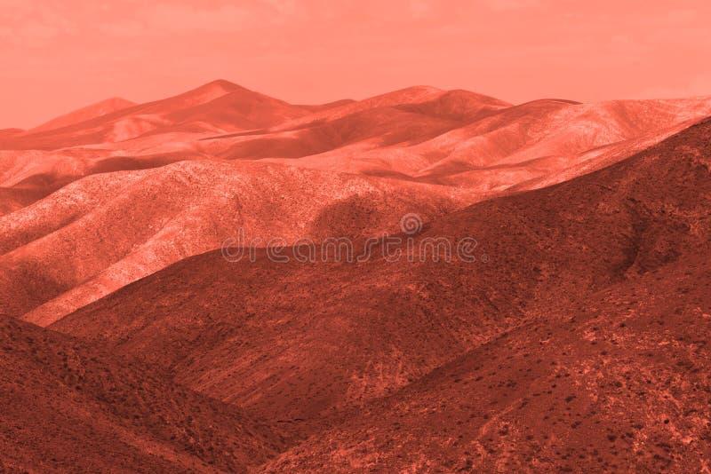 Vue de la plan?te terrestre rouge photographie stock libre de droits