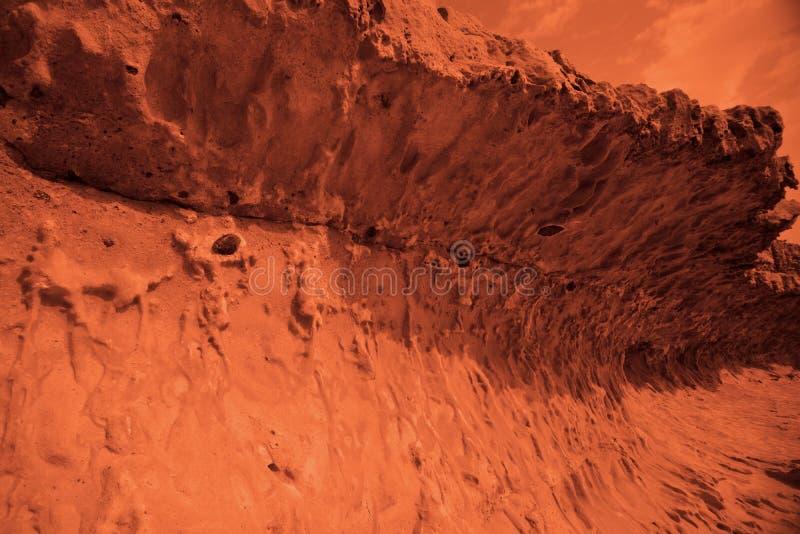 Vue de la plan?te terrestre rouge image stock