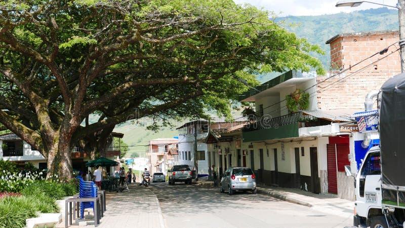 Vue de la plaza principale dans Hispania, Antioquia, Colombie photos stock