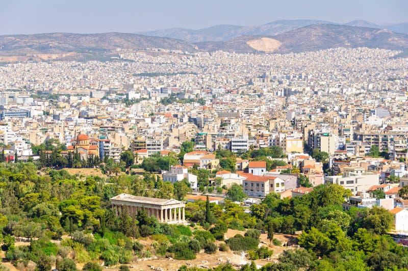 Vue de la porte de Beule à l'Acropole - Athènes photographie stock libre de droits