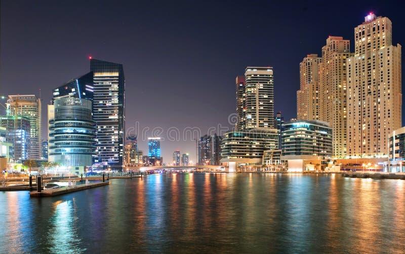 Vue de la région de Dubaï - la marina de Dubaï images stock