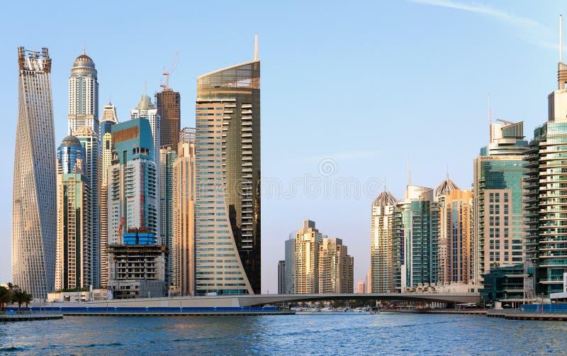 Vue de la région de Dubaï - la marina de Dubaï photos stock