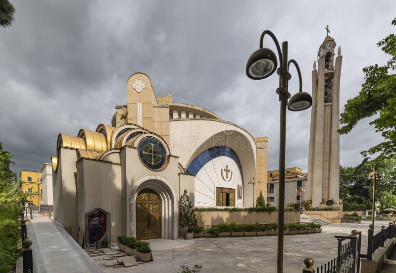 Vue de la résurrection de la cathédrale orthodoxe du Christ, Tirana, Albanie images libres de droits