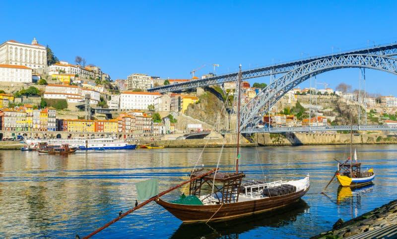 Vue de la rivière de Douro, à Porto photo stock