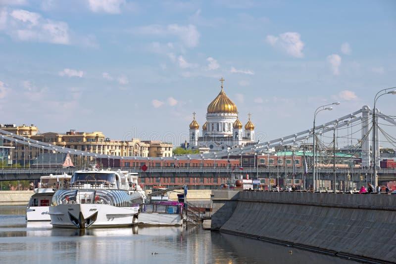Vue de la rivière Moskva au centre de Moscou, Russie image libre de droits