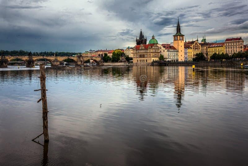 Vue de la rivière de Vltava prague République Tchèque photo stock