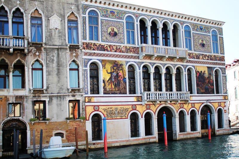 Vue de la seule construction, canal, Venise image stock