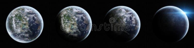 Vue de la terre de planète dans l'espace illustration libre de droits