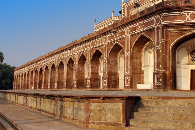 Vue de la tombe de Humayun à Delhi, Inde image libre de droits