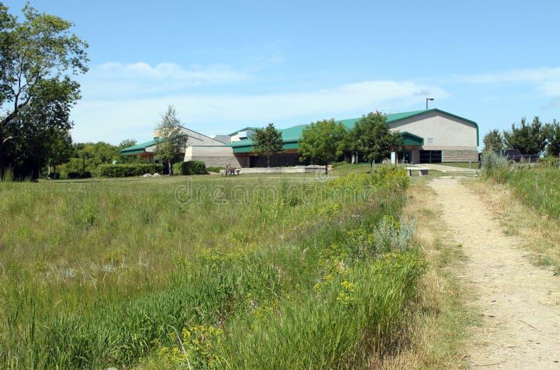 Vue de la traînée, Brandon Riverbank Discovery Center photos stock
