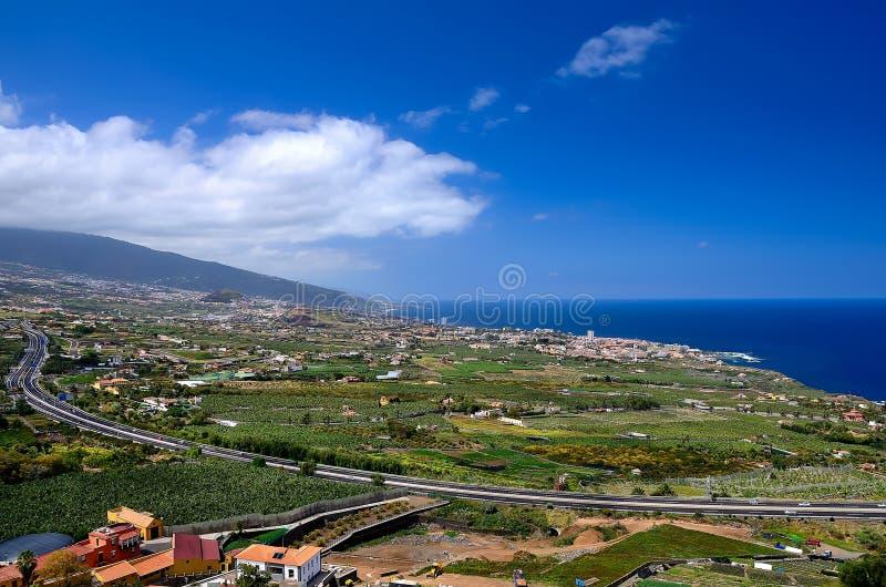 Vue de la vallée de La Orotava photographie stock libre de droits