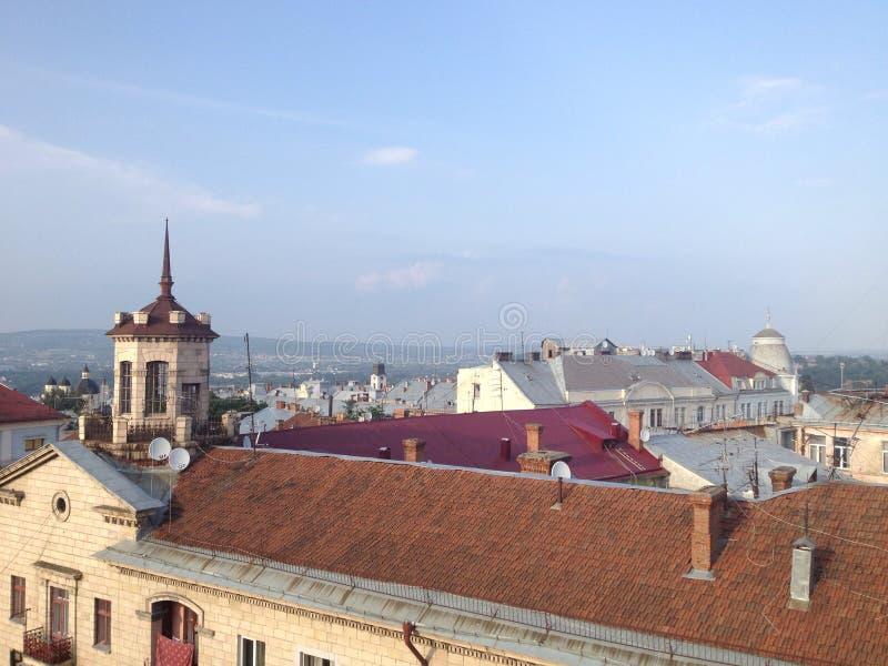 Vue de la vieille ville image libre de droits