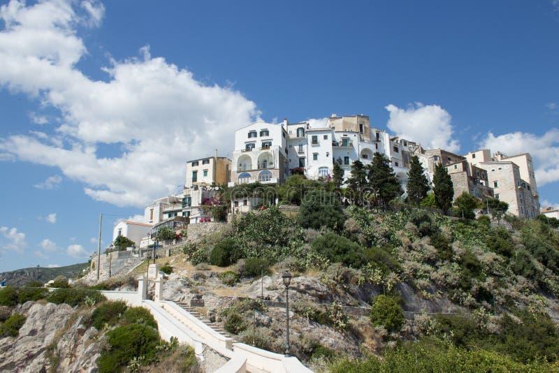 Vue de la vieille ville, Sperlonga images libres de droits
