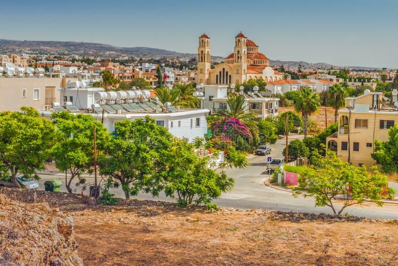 Vue de la ville de Paphos, Chypre photographie stock