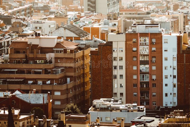 Vue de la ville du parc Guell ? Barcelone l'espagne photo stock