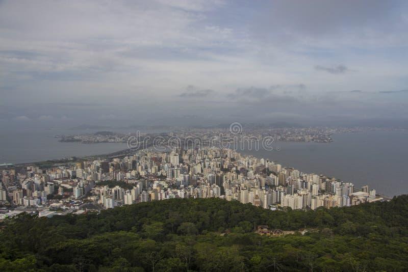 Vue de la ville - Florianópolis/SC - le Brésil photo libre de droits