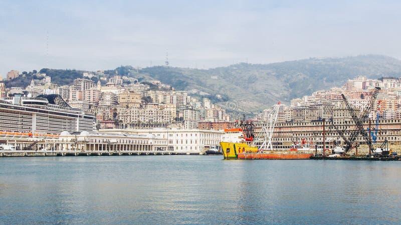 Vue de la ville de Gênes photo stock