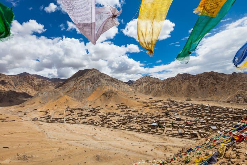 Vue de la ville Leh images stock