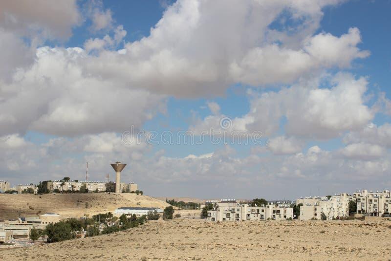 Vue de la ville Mizpe Ramon, Israël photos stock