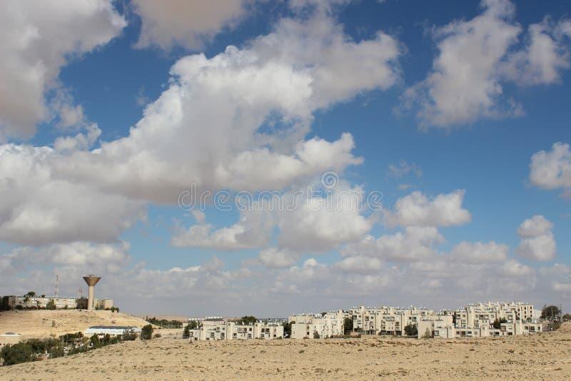 Vue de la ville Mizpe Ramon, Israël image libre de droits