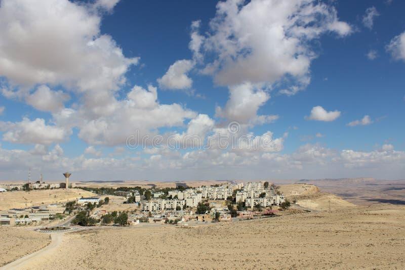 Vue de la ville Mizpe Ramon, Israël images libres de droits
