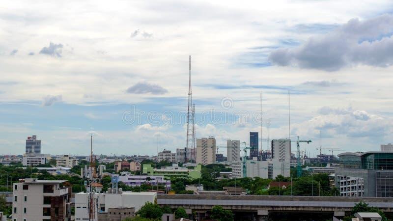 Vue de la ville pendant le matin photo stock