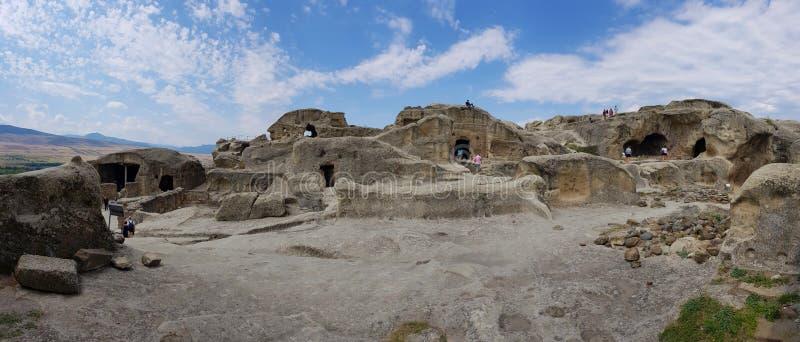 Vue de la ville pittoresque de roche d'Uplistsikhe, près de Gori, la Géorgie image stock