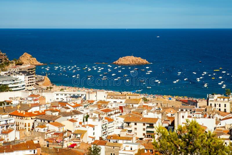 Vue de la ville de Tossa De mars, ville sur Costa Brava images libres de droits