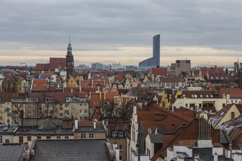 Vue de la ville de Wroclaw du clou poland photographie stock libre de droits