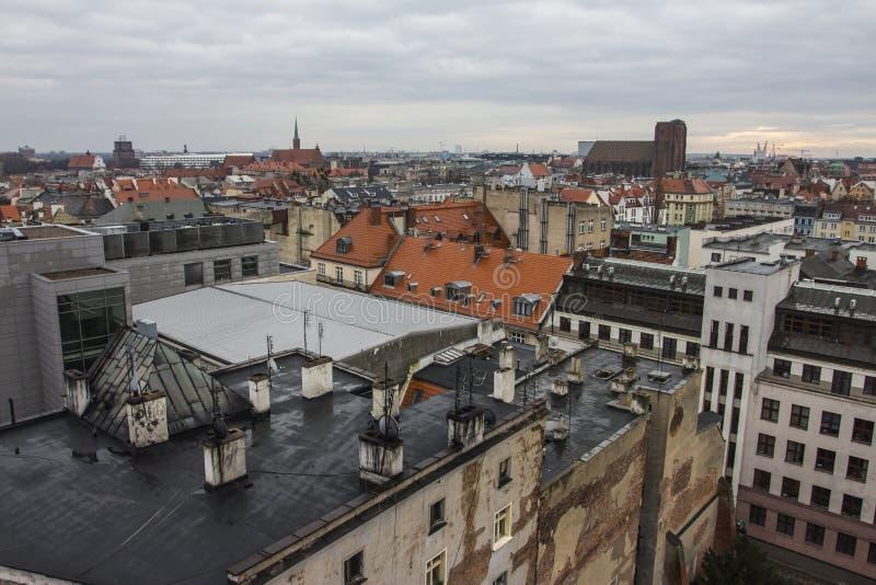 Vue de la ville de Wroclaw du clou poland images libres de droits