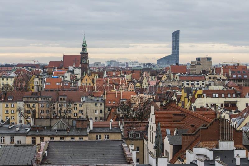 Vue de la ville de Wroclaw du clou poland image stock