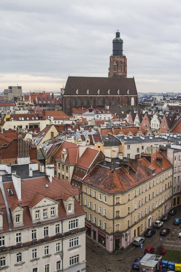 Vue de la ville de Wroclaw du clou poland images stock