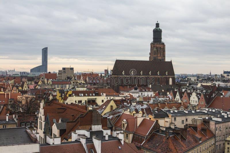 Vue de la ville de Wroclaw du clou poland photo stock