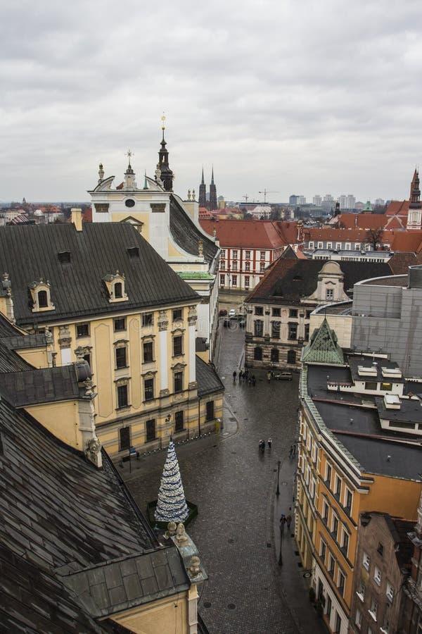 Vue de la ville de Wroclaw du clou poland photos stock