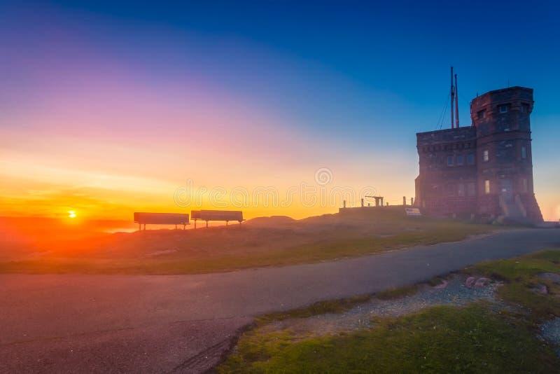Vue de la voie de Cabot Tower sur la colline St John de signal photos libres de droits