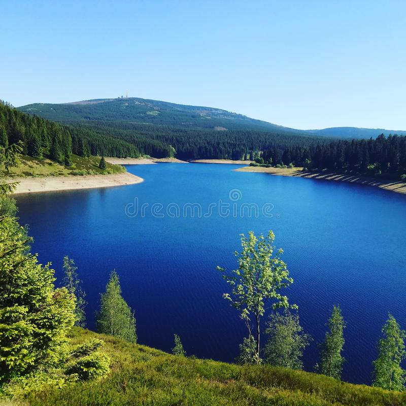 Vue de lac photo libre de droits