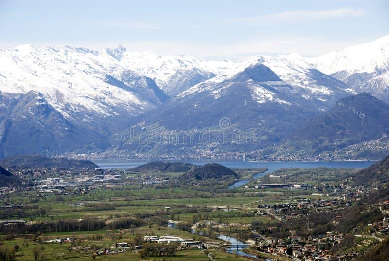Vue de lac Como photos stock