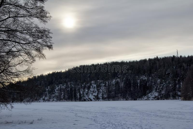 Vue de lac glacé photos libres de droits