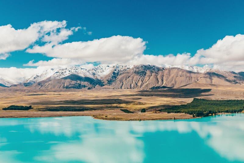 Vue de lac Tekapo de bâti John, NZ photo libre de droits