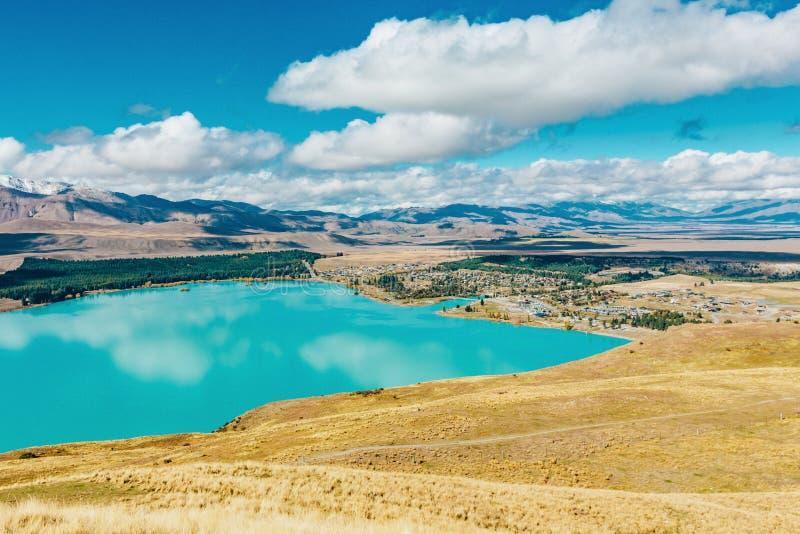Vue de lac Tekapo de bâti John, NZ photos stock