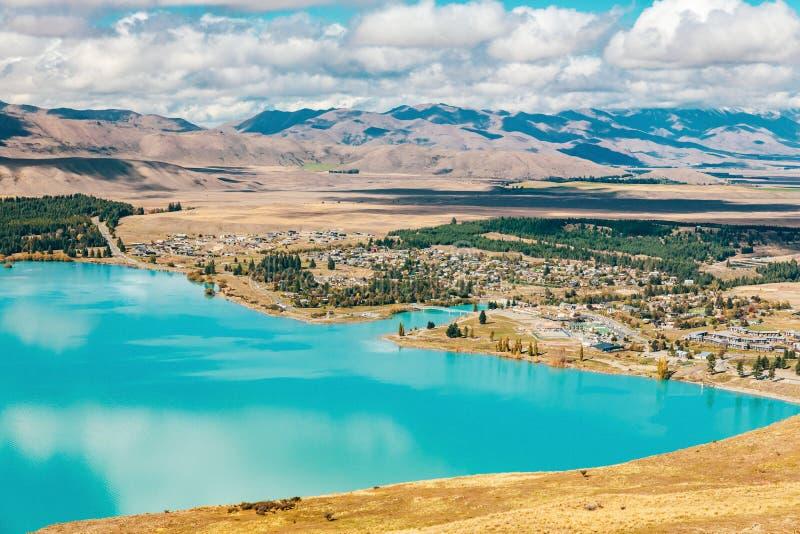 Vue de lac Tekapo de bâti John, NZ images stock